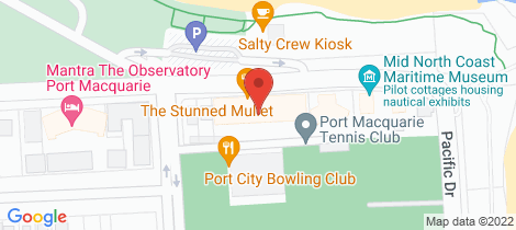 Location map for 101/12-24 William Street Port Macquarie