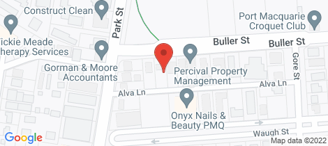 Location map for Room 1/40 Buller Street Port Macquarie