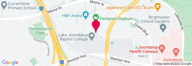 Map for Arena Joondalup