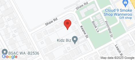 Location map for 7 Keane Street Wanneroo