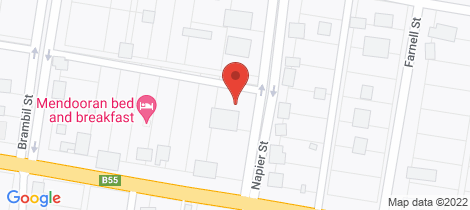 Location map for 21 Napier Street Mendooran
