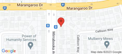 Location map for 128 Mirrabooka Avenue Koondoola