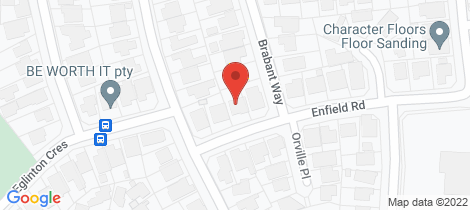 Location map for 5 Enfield Road Hamersley