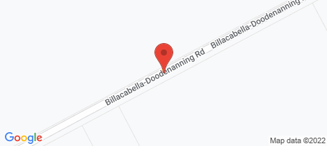 Location map for Lot 111164 BBLLACABELLA-DOODENANNING ROAD, Quairading