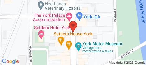 Location map for Lot 13 WARDING DAM York
