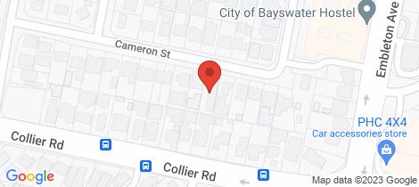 Location map for 24 Cameron Street Embleton