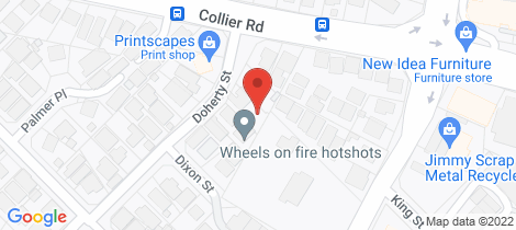 Location map for 16A Doherty Street Embleton