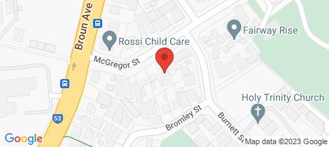 Location map for 33 McGregor Street Embleton