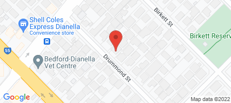 Location map for 150 Drummond Street Bedford