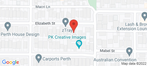 Location map for 9 Elizabeth Street North Perth