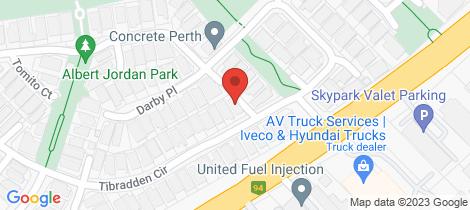 Location map for 95 Tibradden Circle Ascot