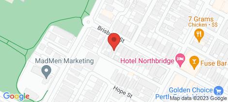 Location map for 229B Brisbane Street Perth