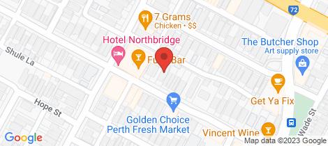 Location map for 190-194 Brisbane Street Perth