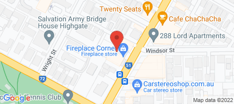 Location map for 16/279 Lord Street Perth