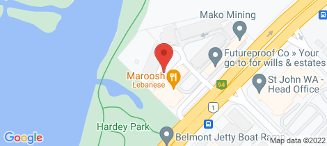 Location map for 107/150 Great Eastern Highway Ascot