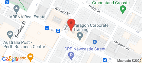 Location map for 16/60 Newcastle Street Perth