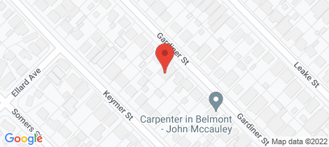 Location map for 84 Gardiner Street Belmont