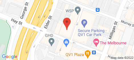 Location map for 75/996 Hay Street Perth