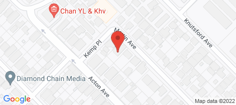 Location map for 4 Martin Avenue Rivervale