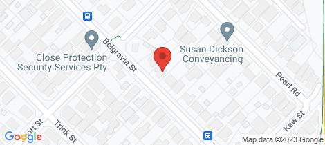 Location map for 437 Belgravia Street Cloverdale