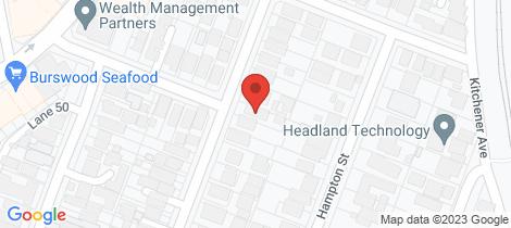 Location map for 58 Harvey Street Burswood