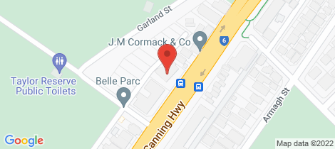 Location map for 41 Canning Highway Victoria Park