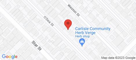 Location map for 22 O'Dea Street Carlisle