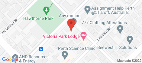 Location map for 6/125 Gloucester Street Victoria Park