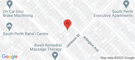 Location map for 51A Arlington Avenue South Perth