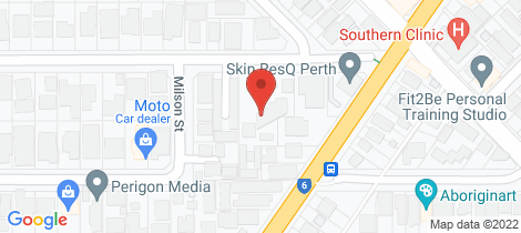 Location map for 23/55 Elizabeth Street South Perth