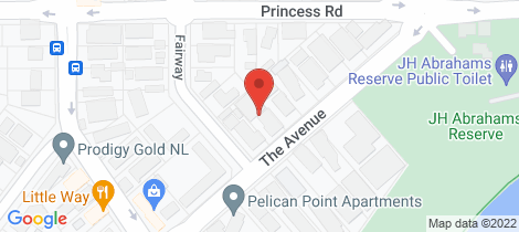 Location map for B/C/D/13 The Avenue Crawley