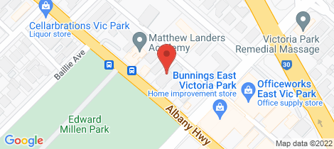 Location map for 3/996 Albany Hwy East Victoria Park
