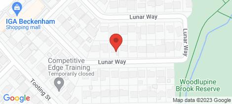 Location map for 45 Lunar Way Beckenham