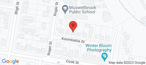 Location map for 8 Koombahla Street Muswellbrook