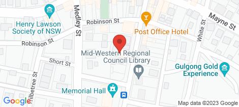 Location map for 2/102 Herbert Street Gulgong