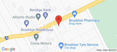 Location map for 92 Brookton Highway Brookton