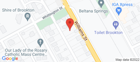 Location map for 32 Williams Street Brookton