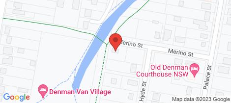 Location map for 5 Merino Street Denman