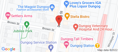 Location map for 60 Brewers Road Dungog