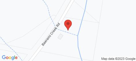 Location map for 1449 Baerami Creek Road Baerami
