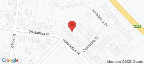 Location map for 12 Eucalyptus Drive Wellington