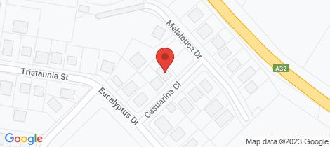 Location map for 3 Casuarina Close Wellington