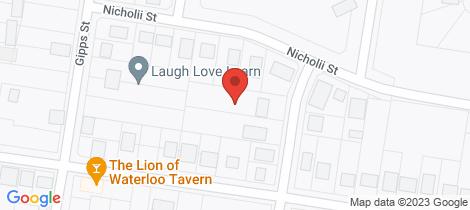Location map for 5 Herbert Street Wellington