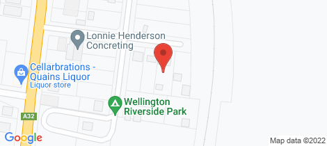 Location map for 13 Macquarie Street Wellington
