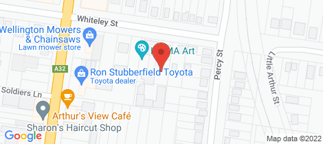 Location map for 61B Whiteley Street Wellington