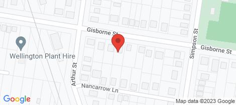 Location map for 79 Gisborne Street Wellington