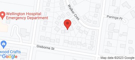 Location map for 23 Walker Crescent Wellington