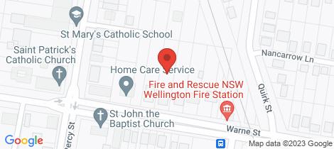 Location map for 68 Warne Street Wellington
