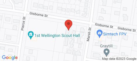 Location map for 7/153 Gisborne Street Wellington