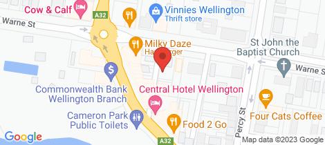 Location map for 29 Warne Street Wellington
